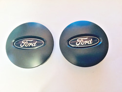 Two 2 Used Ford Edge Black Emblem Wheel Center Hubcaps P/n 6f23-1a096-ba Parts