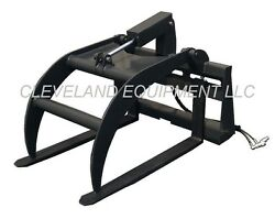 New Hd Hydraulic Fork Grapple Skid-steer Loader Attachment Tine Log Root Pallet