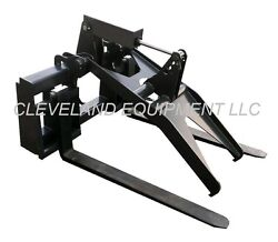 New Adjustable Fork Grapple Attachment Skid Steer Loader Compact Tractor Pallet