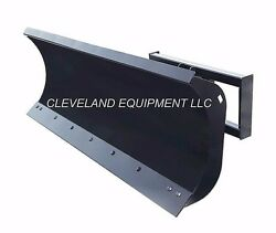 New 72 Hd Snow Plow Attachment Skid-steer Loader Angle Blade Terex Takeuchi Jcb