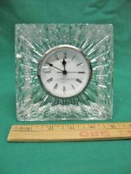 Rare 5 Square Waterford Crystal Jim O'leary Desk Mantle Clock Mint New Battery