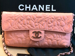NEW CHANEL Special Edition Leather Logo Embossed Shoulder Bag AUTHENTIC  $4,100.00