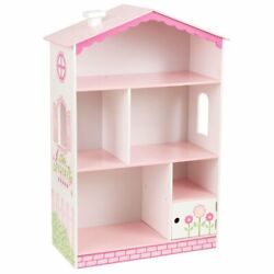 Kidkraft Dollhouse Bookcase In Pink And White