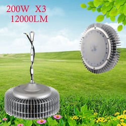3x 200W LED High Bay Light Warehouse Fixtures Commercial Industrial GYM Light