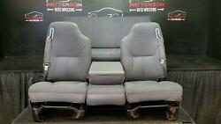 2000 Dodge Ram 1500 Manual Front And Rear Cloth Seat Club And Quad Cab Mist Gray C3