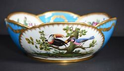 Minton Turquoise Hand Painted Center Bowl Circa 1865