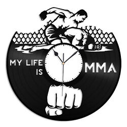 Mixed Martial Arts MMA Vinyl Wall Clock Unique Gift for Sports Lovers Home Decor