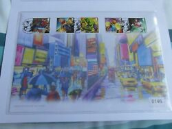 Uk Marvel Comics Stamps Artist Edition Nick Watton Fdc Pair 2500 Only-mint