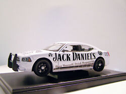 2006 Dodge Charger Jack Daniels Custom Graphics 1/24 Diecast In Display Case