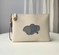 Coach Disney Mickey Mouse Dumbo Clutch Bag White Signatur Collector Item Rare