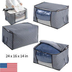 Foldable Portable Home Closet Storage Bag Organizer Box Clothes Quilt Blanket