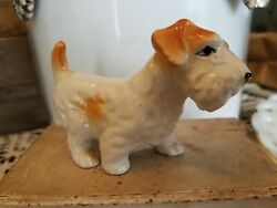 Vintage 1950s Porcelain Dog West Highland? Terrier Figurine Doggo CharityRescue
