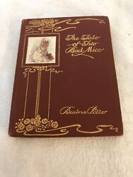 """TWO BAD MICE"" BY BEATRIX POTTER ~ DELUXE EDITION~  **RAREST POTTER TITLE** 1904"