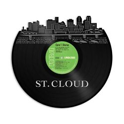 St Cloud Mn Vinyl Wall Art Record Cityscape Home Room Decoration Bachelor Gift