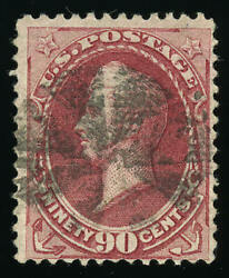 US # 144  90¢ Perry with grill Fine centering Used faint crease PF (2007)