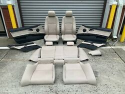 ✅ 07-13 BMW OEM E92 328 335 Front Seats Sport WHITE INTERIOR oyster 335is