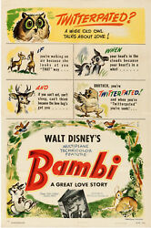 Movie Poster Bambi 1942 One Sheet 27