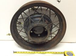 Antique Car 18andrdquo Spoked Iron Wheel Hub Model A Model T Vintage Original Auto Part