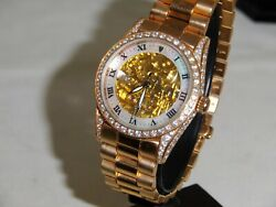 Croton Gold Filled Gold W/ Automatic 10 Micron Gold Very Hard To Find
