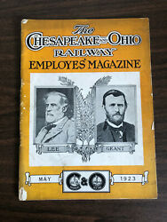 May 1923 The Chesapeake And Ohio Railway Employees Magazine Lee Grant Cover