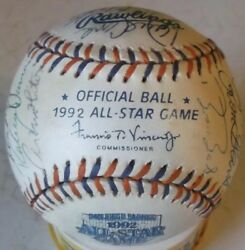 1992 Official All-star Game Signed Baseball Including Ken Griffey Jr And More
