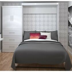 Bestar Pur 100 Queen Wall Bed With Storage In White