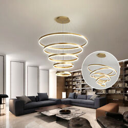 Olympic Five Rings Suspension Lamp Led Hanging Light Round Pendant Chandelier