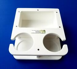 Starboard Double Drink Cup Holder With Large Storage Box 1/2 Starboard