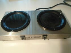Bunn Restaurant Commercial Wx-2 Stainless Dual Burner Tested Used 1984 Vintage