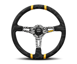 Momo Ultra Steering Wheel Microfiber W/ Black Engraved Spokes Us Dealer