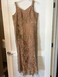 BRAND NEW MARCHESA COUTURE LACE & BEADED EMBELLISHED GOWN SIZE 14-16