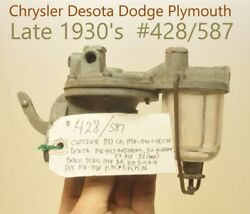 Old Domestic Usa Fuel Pump Late 1930's Dodge Chrysler Plymouth Desoto