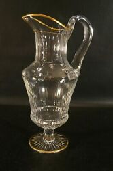 France Crystal St Louis Apollo Jug Or Pitcher With Gold.