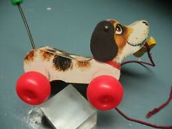 Fisher Price No. 693  Little  Snoopy Pull  Along  Toy  Dog 1965