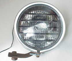 Very Vintage Per Lux Car Truck Tractor Fog Light Lamp Stainless Steel Case