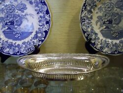 Reed And Barton Old Hotel Silver Bread Serving Tray Pierced Rim View Our Listings
