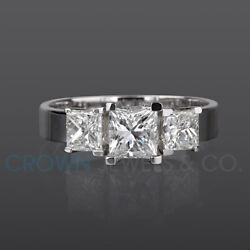 Princess Cut Anniversary Diamond Ring 1.9 Ct H Vvs Solitaire With Accents