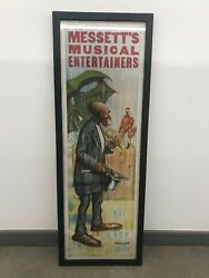 Messetand039s Musical Entertainers Vintage Banner