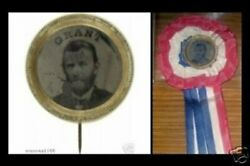 Ulysses Grant Ferrotype With Reeded Frame