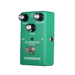 Exquisite Delicate Analog Overdrive Guitar Effect Pedal True Bypass Green I1H6