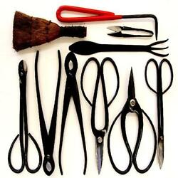 Stanwood Bonsai Tool 10-piece Carbon Steel Shear Set And Tool Kit Discontinued B
