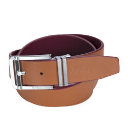 Noblag Luxury Men's Dress Belts Clamp Closure Leather Stainless Steel Buckle