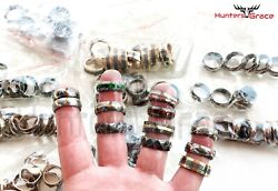 Beautiful Lot Of 100 Damascus Custom Handmade Rings Limited Size 7 To 12.5