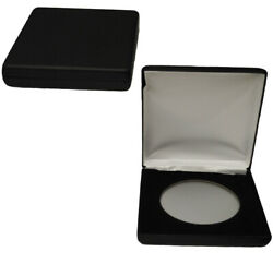 AirTite Display Steel Coin Holder Box Black Leatherette Z size Coin Protector $19.53