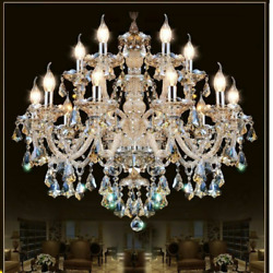 Home Lighting Chandeliers Modern Crystals Elegant Fixture Incandescent Bulb Lamp
