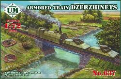 Umt 637 - Armored Russian Train Dzerzhinets Wwii 1/72 Scale Model Kit