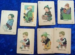 Vintage Little Indian Old Maid Cards Coalman Grocer Son Doctor Busby Iceman Son+
