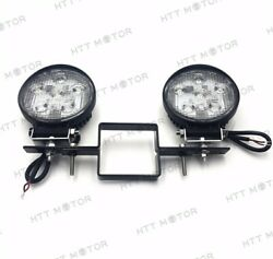 Round 18w Off-road Led Work Lamp W/ Tow Hitch Bracket For Truck Suv Trailer Rv