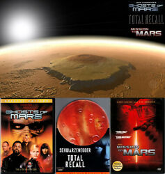 4-dvd Lot Ghosts Of Mars+total Recall Tin+mission To+lathe Of Heaven Tv Oop R1