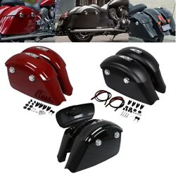 Hard Saddlebags W/electronic Latch Lid For Indian Chieftain Dark Horse 2016-2018